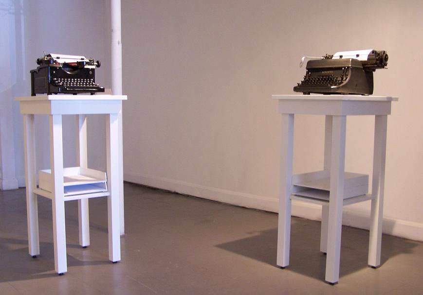Just Leave typewriter installation; 2007