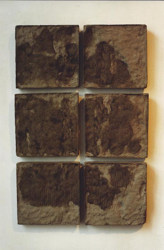 """Remnant; Cast concrete; 29""""h x 19""""w x 1.5""""d; 1998"""