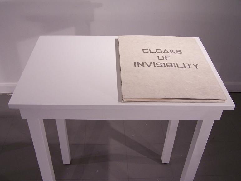 "Cloaks of Invisibility; Graphite on paper; 19""h x 15""w x .75""d; 2007"