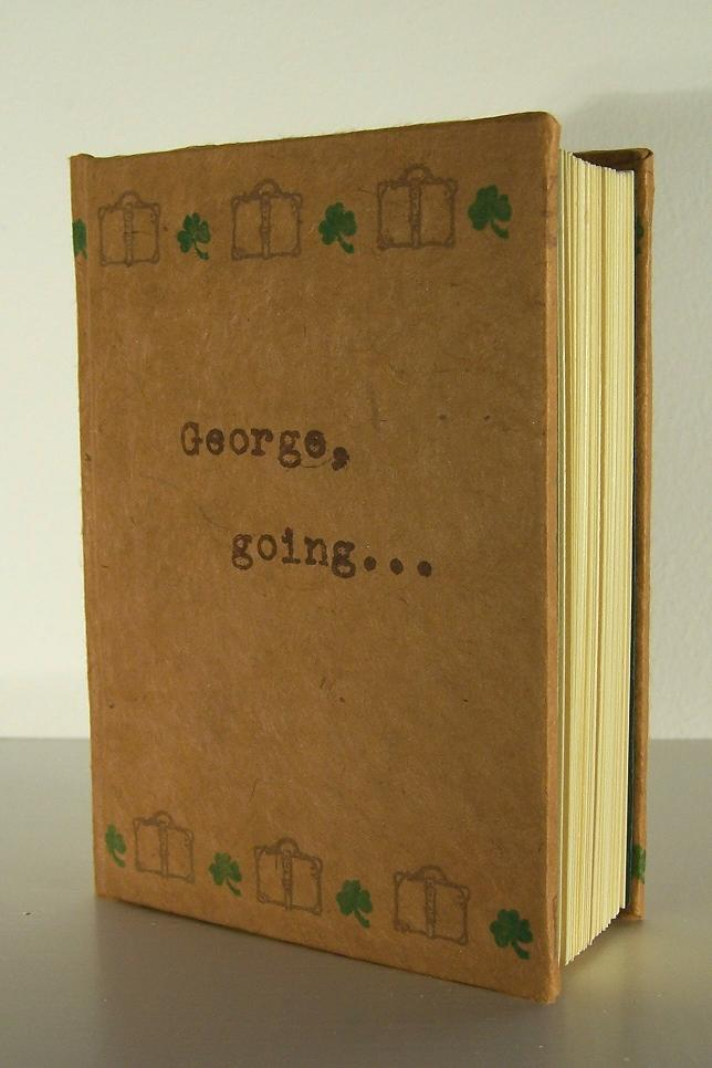 "George, going...; Paper, linen thread, screenprinted image on 92 pages; 5""h x 3.5""w x 1.75""d; 2005"